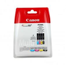 Canon CAN20032 (CLI-551) Orjinal CMY-BK  Kartuş Set